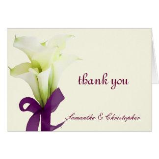 Die PixDezines Callalilien, wedding danken Ihnen Karte