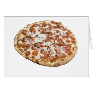 Die Pizza-Karte der Fleisch-Liebhaber Karte