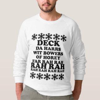 Die Plattform der lustigen Männer die Sweatshirt