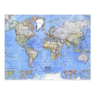 Die politische Weltkarte Postkarte