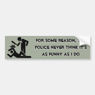 Die Polizei denkt nie, dass es so lustig ist, wie Autoaufkleber