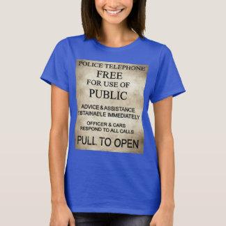 Die Polizei-Kasten-T - Shirt der Frauen