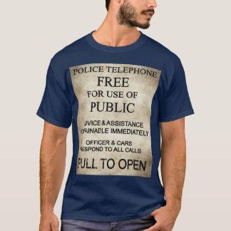 Die Polizei-Kasten-T - Shirt der Männer