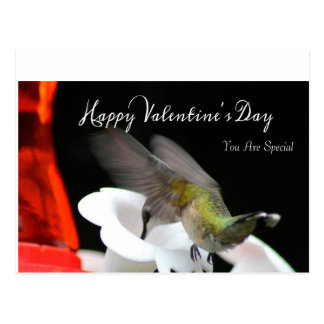 Die Postkarte 2 des Kolibri-Valentinsgrußes