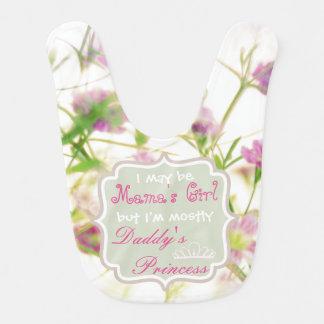 Die Prinzessin Baby Bib des entzückenden rosa Lätzchen