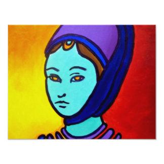 Die Prinzessin durch Piliero 10,8 X 14 Cm Einladungskarte