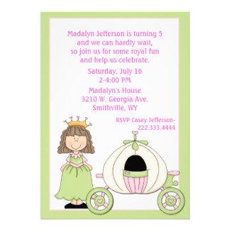Die Prinzessin-u. der Trainer-Geburtstags-Party Einladungen