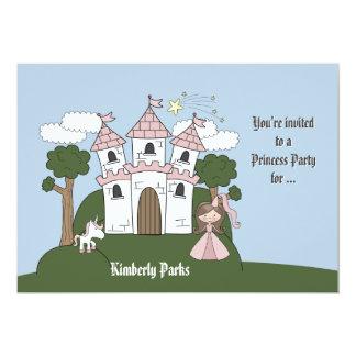 Die Prinzessin und ihr Unicorn - Foto-Geburtstags- Ankündigung