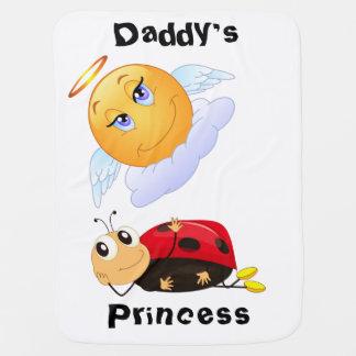 Die Prinzessin With Smiling Sun u. Marienkäfer des Baby-Decke
