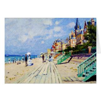 Die Promenade bei Trouville Claude Monet Mitteilungskarte