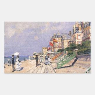 Die Promenade bei Trouville Claude Monet Rechteckiger Aufkleber