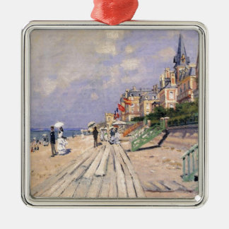 Die Promenade bei Trouville Claude Monet Silbernes Ornament