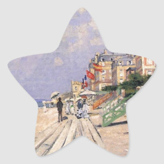 Die Promenade bei Trouville Claude Monet Stern-Aufkleber