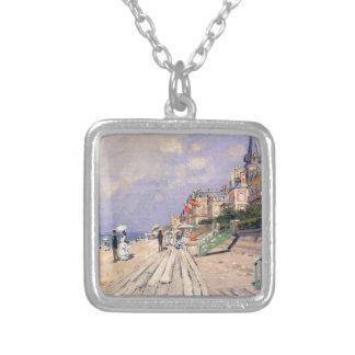 Die Promenade bei Trouville Claude Monet Versilberte Kette