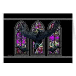Die Raben-gotische leere innere Grußkarte