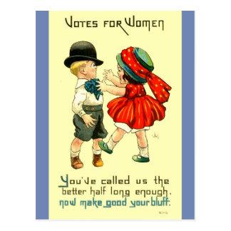 Die Recht-Postkarteniedlicher Suffragette der Postkarte
