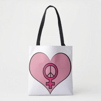 Die Recht-Protest-Herz-feministische Tasche