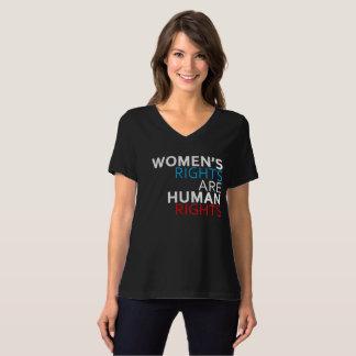 Die Rechte der Frauen sind Menschenrechte V-Hals T T-Shirt