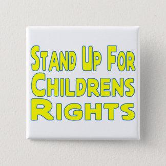 Die Rechte der Kinder Quadratischer Button 5,1 Cm