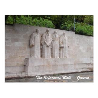 Die Reformer-Wand - Genf Postkarte