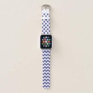 Die Regentschaft blau und das Weiß kopiert Apple Watch Armband
