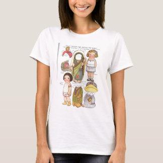 Die Reise-auf der ganzen Welt Papier-Puppen T-Shirt