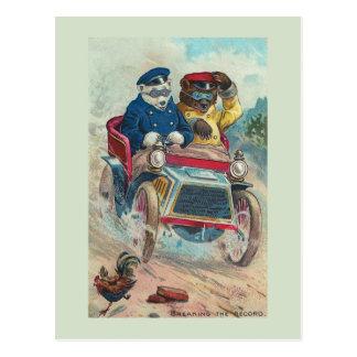 """""""Die Rekord"""" Vintage Bärn-Postkarte brechend Postkarte"""