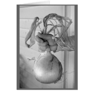 Die riesige Zwiebel Grußkarte