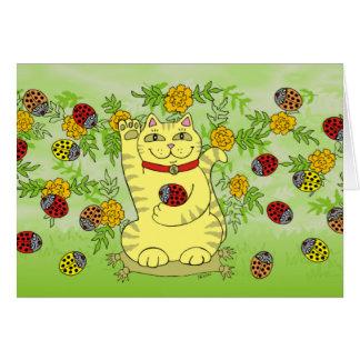 Die Ringelblumen sind heute glücklich! Grußkarte