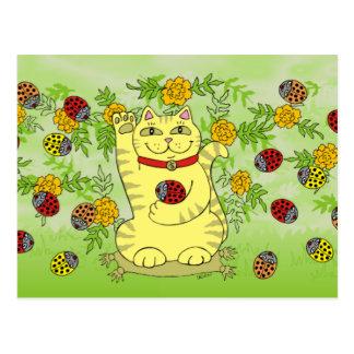 Die Ringelblumen sind heute glücklich! Postkarte