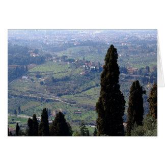 Die rollenden toskanischen Hügel Karte