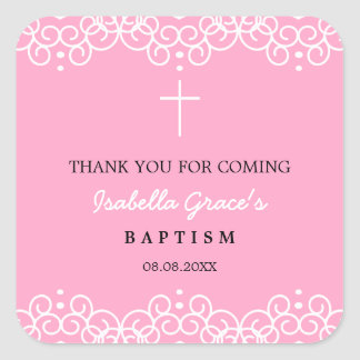 Die rosa Gartennelke u. die Taufe des Weiß-| Quadratischer Aufkleber
