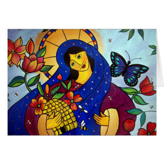 Die Rose gibt den Bienen Honig Karte