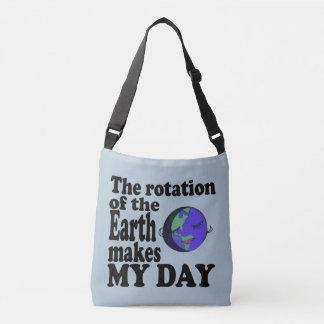 Die Rotation der Erde macht meinen Tag Tragetaschen Mit Langen Trägern