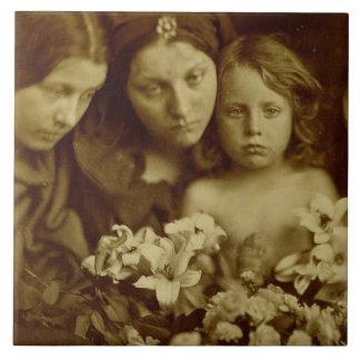 Die Rückkehr nach drei Tagen, c.1865 (Sepia-Foto) Fliese