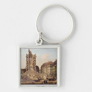Die Ruinen des alten Kreuzkirche, Dresden Schlüsselanhänger