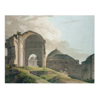 Die Ruinen des Palastes in Madurai, 1798 Postkarte