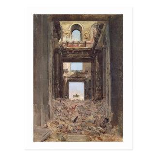 Die Ruinen des Tuileries, 1871 Postkarte