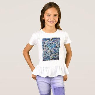 Die Rüsche-T - Shirt der Glasdiamant-Mädchen