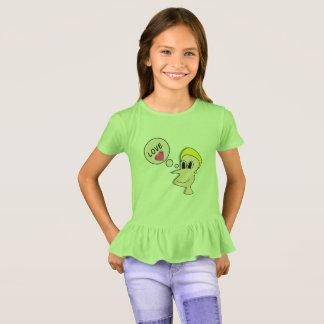 Die Rüsche-T - Shirt der Mädchen