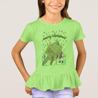Die Rüsche-T - Shirt der Mädchen, frohe