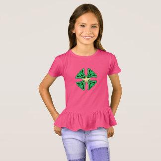 Die Rüsche-T - Shirt der rosa grünen