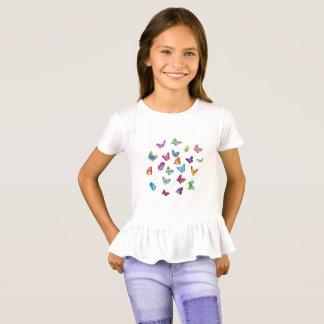 die Rüsche-T - Shirt Schmetterling Mädchen