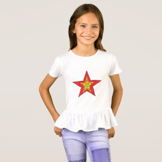 Die Rüsche-T - Shirtkunst der Mädchen durch T-Shirt
