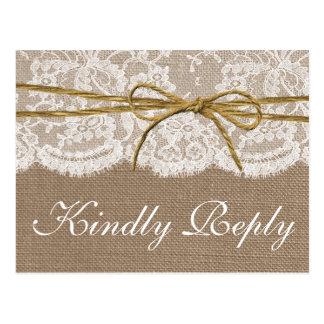 Die rustikale Schnur-Bogen-Hochzeits-Sammlung - Postkarten