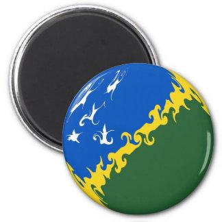 Die Salomonen-Gnarly Flagge Kühlschrankmagnet