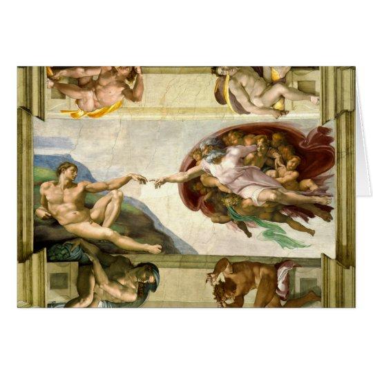 Die Schaffung von Adam durch Michelangelo-schöne Grußkarte