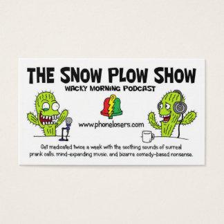 Die Schnee-Pflug-Showbusiness-Karten Visitenkarte