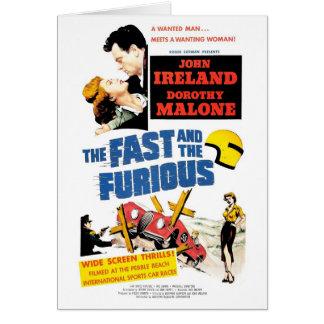 Die schnelle u. Furious (1955) Karte