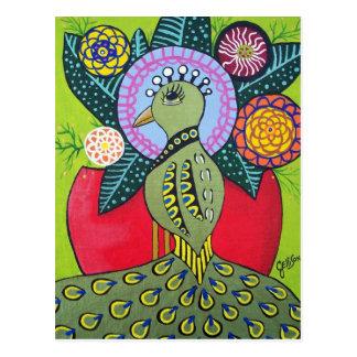 Die Schönheit der Unterschied-Pfau-Kunst-Postkarte Postkarte